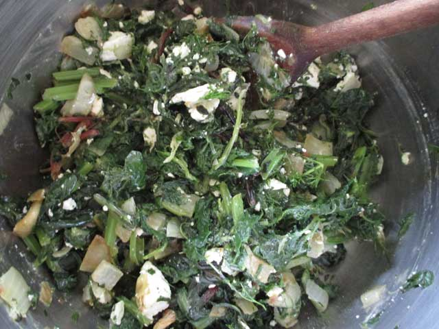spinach pie filling